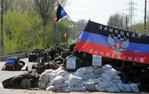 Блокпост в Краматорске Донецкой области