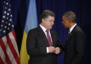 Barack Obama, Petro Poroshenkois