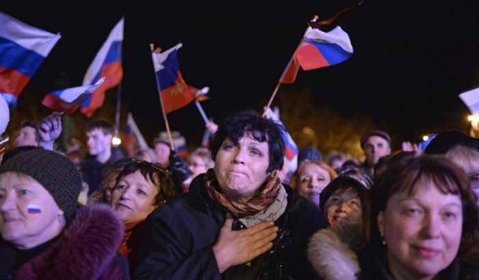Предварительные результаты референдума в Севастополе огласили на концерте-марафоне, проходившем на площади Нахимова / РИА Новости
