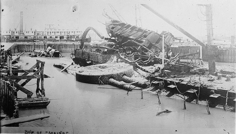 Броненосный крейсер «Мэн» (после взрыва)
