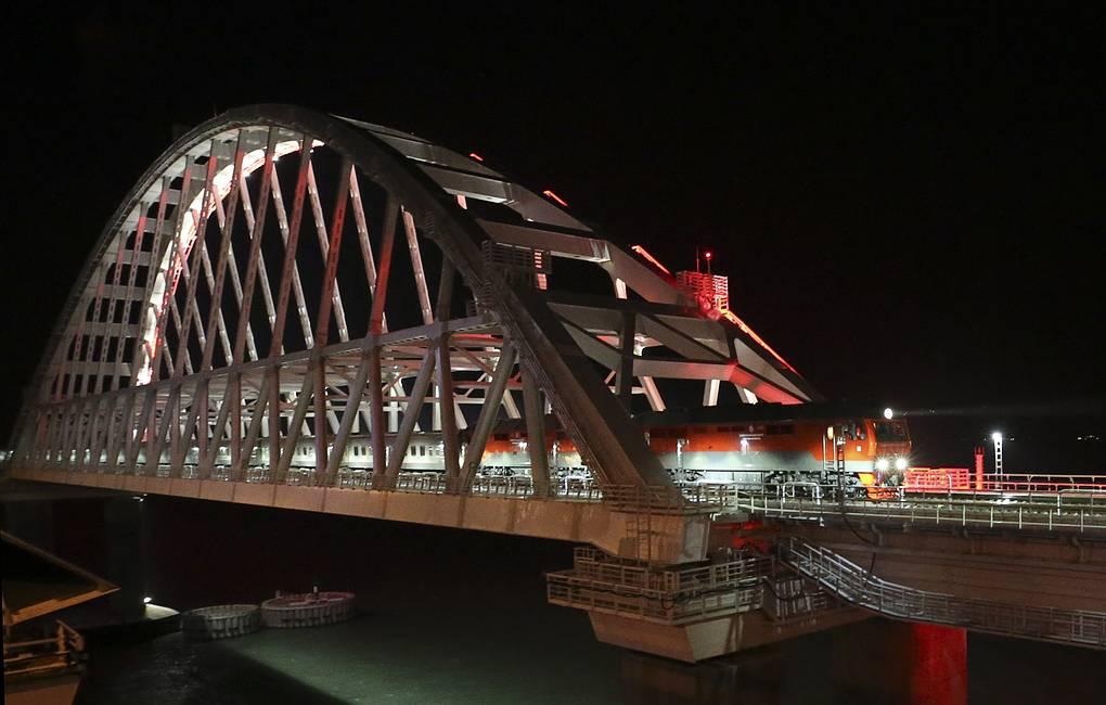 На Украине открыли дело в связи с проездом пассажирского поезда по Крымскому мосту