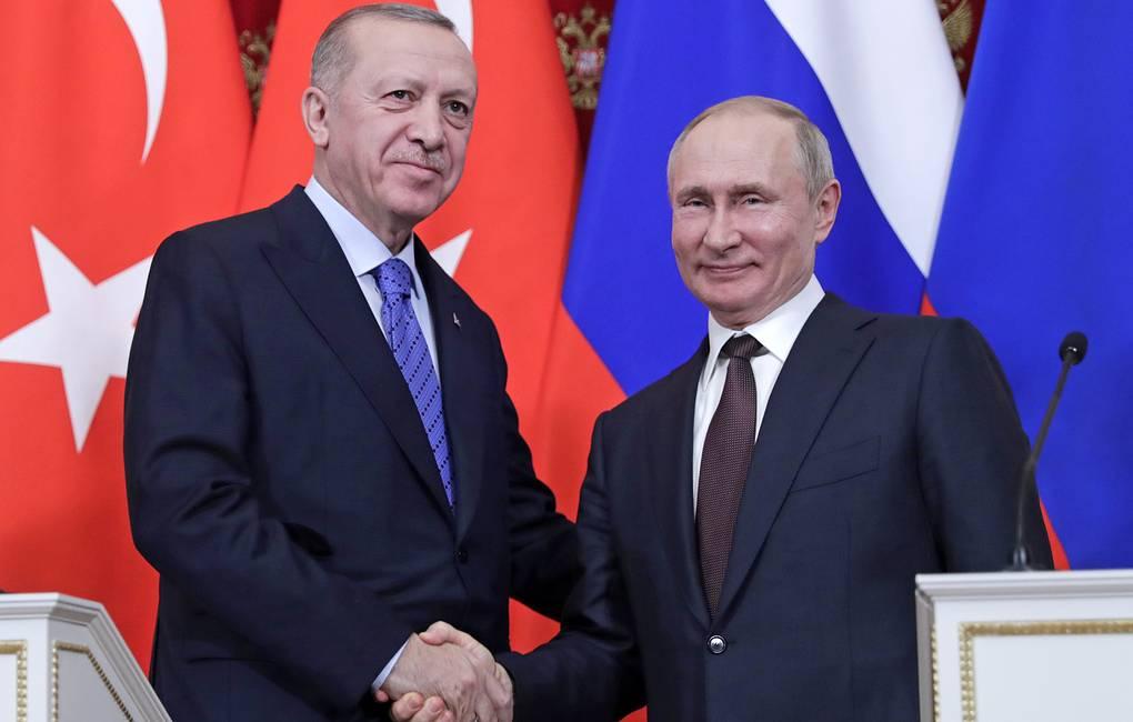 Встреча Путина и Эрдогана в Москве